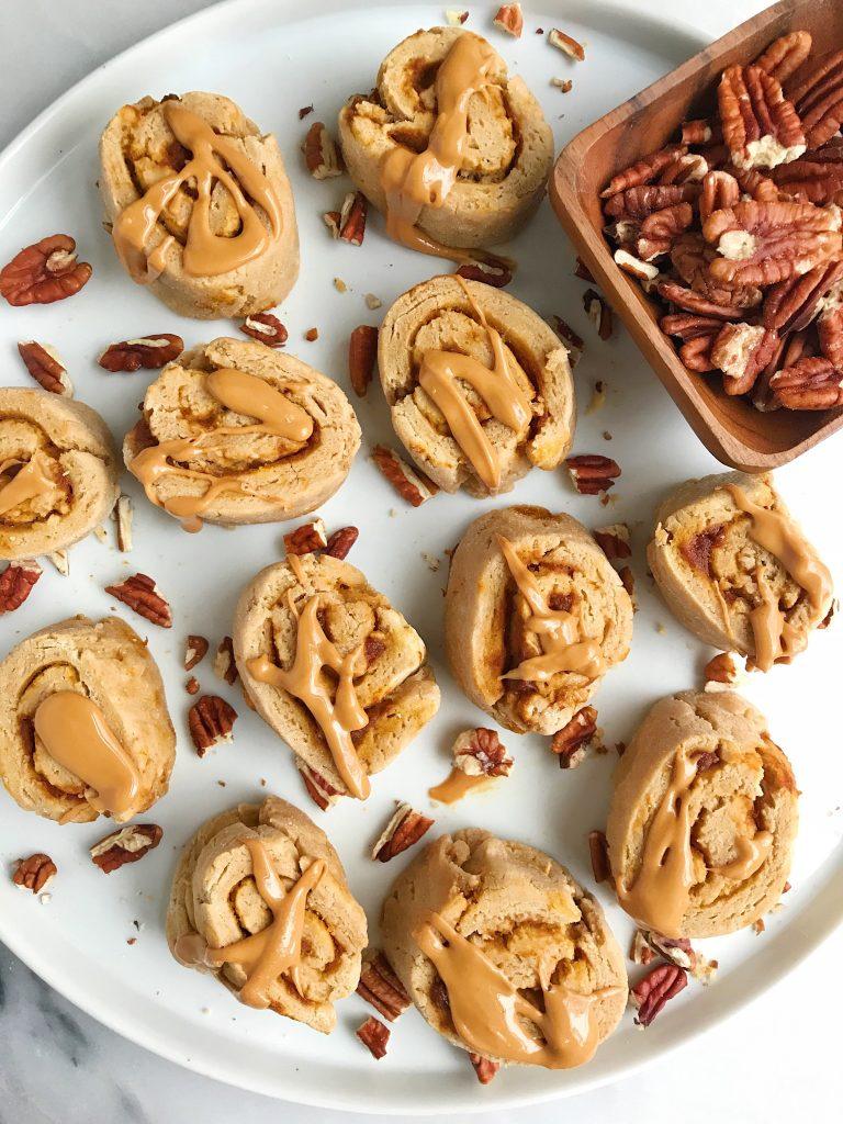 Mini Sweet Potato Cinnamon Rolls (vegan + gluten-free)