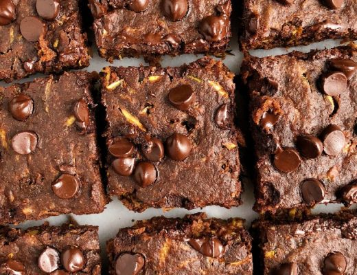 One-Bowl Chocolate Zucchini Bread Brownies for an easy egg-free and gluten-free dessert!