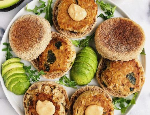 Healthy Homemade Salmon Burgers made with paleo ingredients and they are egg-free!