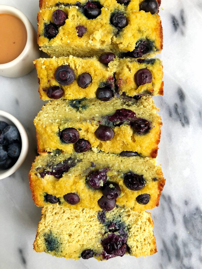 Paleo Lemon Berry Pound Cake made with all paleo, gluten-free and nut-free ingredients for an easy pound cake loaf!