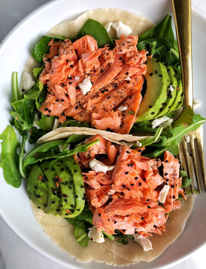 Oven-Broiled Wild Salmon Tacos for an easy and mess free way to make salmon in your oven!