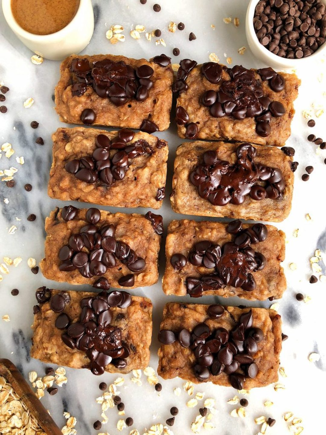 Mini Vegan Chocolate Chip Banana Loaves made with gluten-free and nut-free ingredients for dreamy mini banana breads!