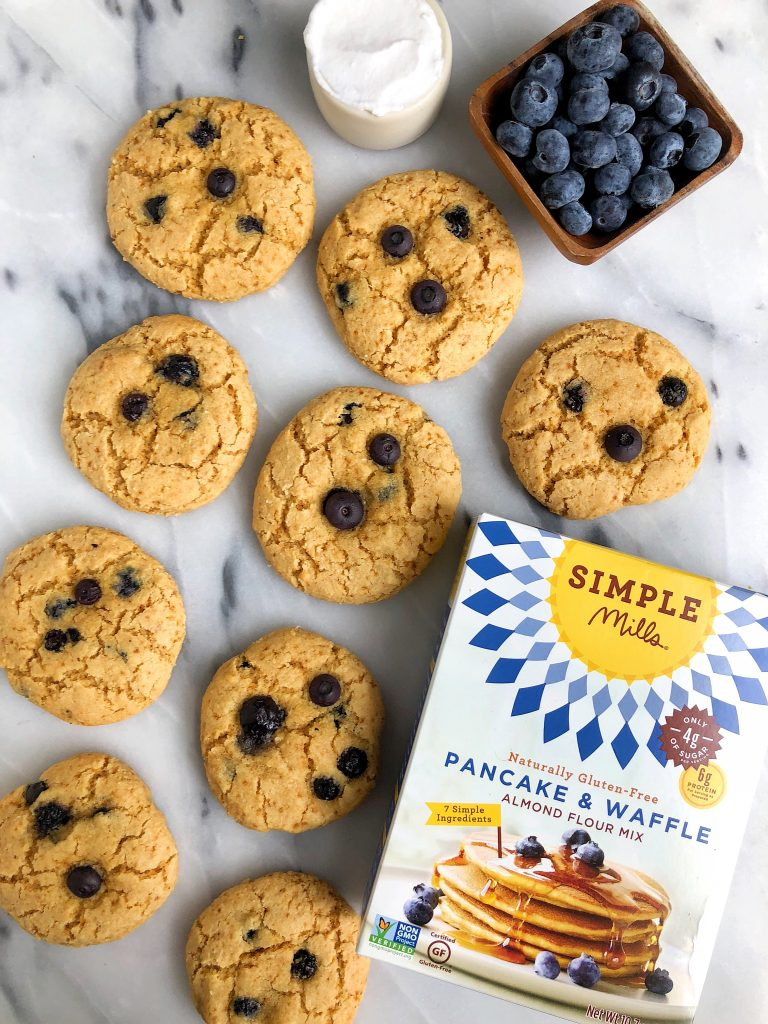Easy Gluten-free Blueberry Pancake Scones made with no refined sugar, dairy or grains for a delicious blueberry breakfast recipe!