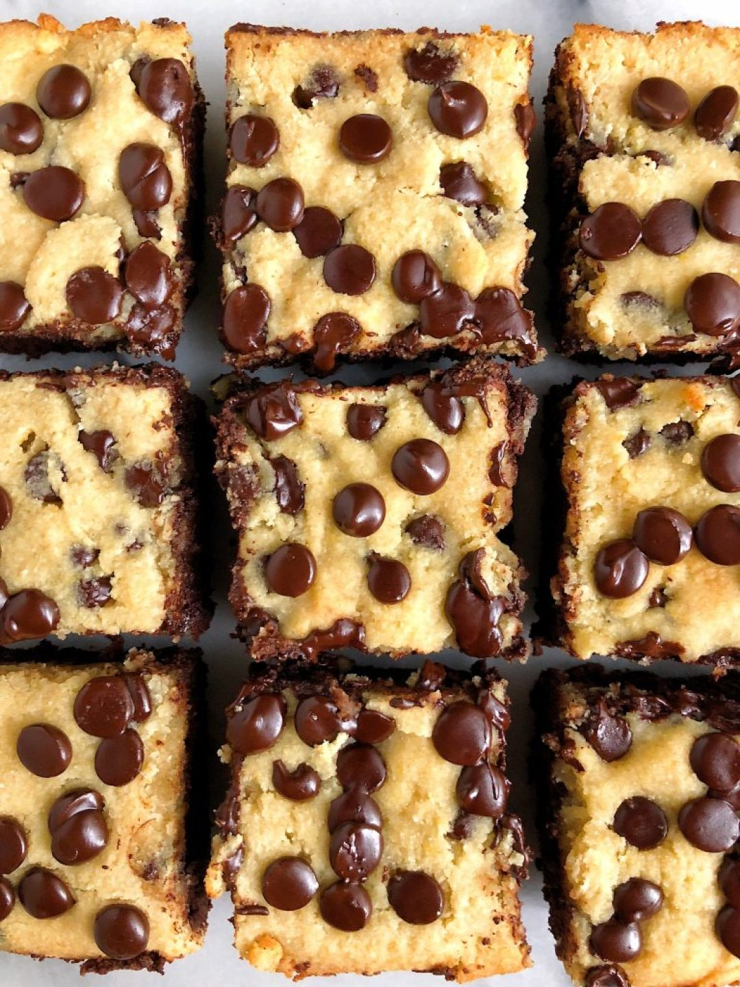 """Gluten-free Chocolate Chip Cookie Brownies made with dairy-free ingredients for an easy and healthier """"brookie"""" recipe"""
