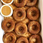 Gluten-free Baked Cinnamon Sugar Donuts that are egg-free, nut-free and ready in less than 15 minutes!