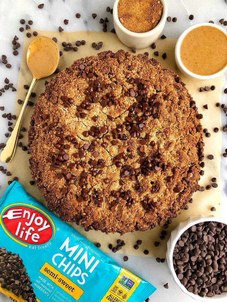Life Changing Healthy Chocolate Chip Crumb Cake made with grain-free, dairy-free and gluten-free ingredients for an epic healthier crumb cake recipe!