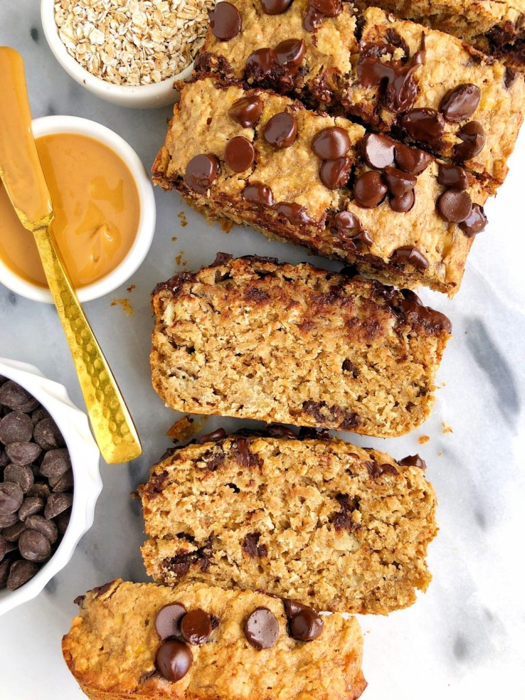 Gluten-free Lactation Chocolate Chip Banana Bread made with wholesome and healthy ingredients for all mama's milk supply!