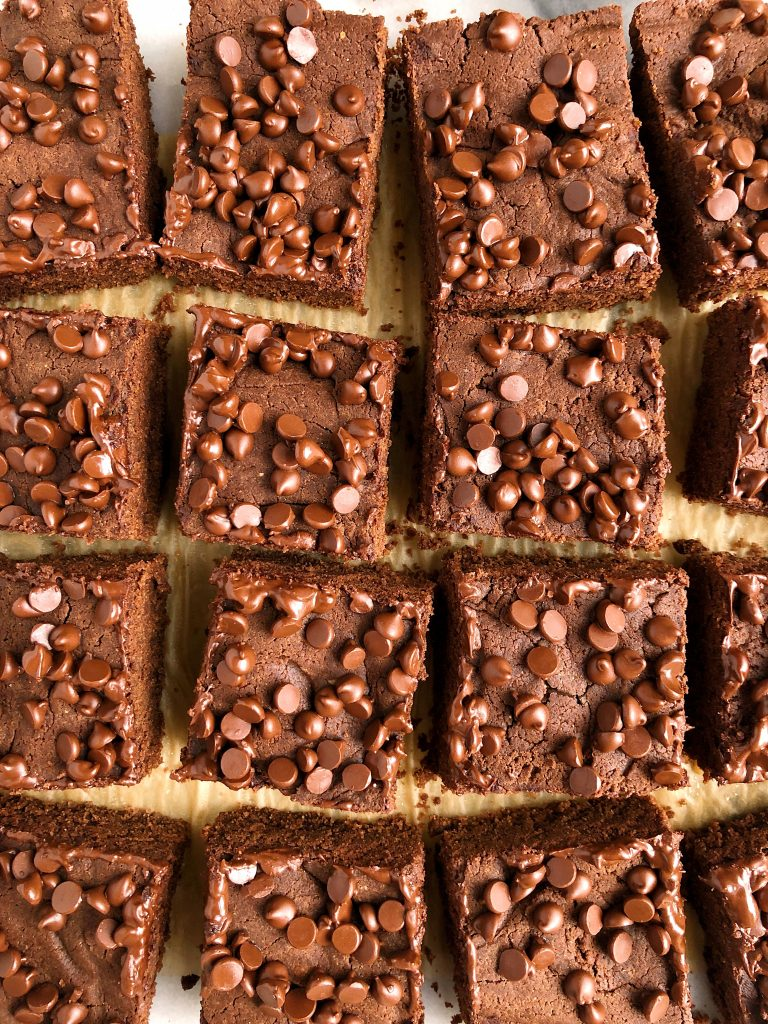"Healthier Gluten-free ""Nutella""FudgeBrownies (vegan + low sugar)"