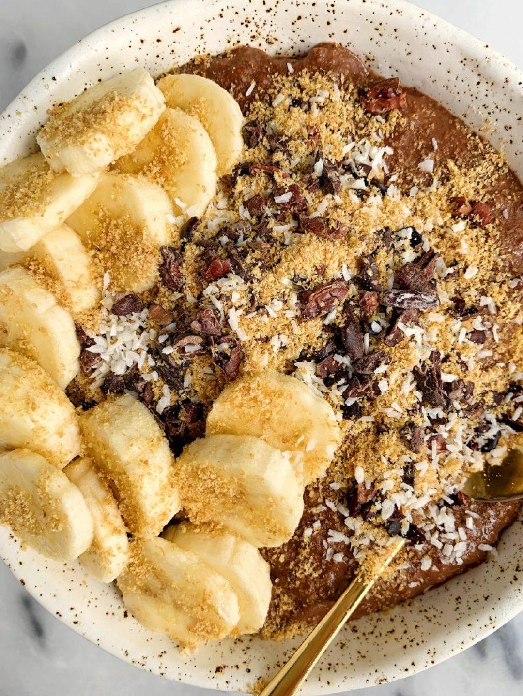 6-ingredient Paleo Banana Breakfast Pudding