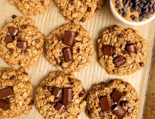 Crispy Oatmeal Chocolate Chip Lactation Cookies made with all vegan and gluten-free ingredients for a healthy cookie recipe to help boost milk supply!