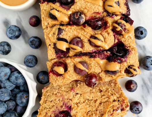 Vegan Lemon Blueberry Breakfast Bread made with all gluten-free and nut-free ingredients for an easy and delicious healthy lemon bread