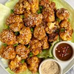 Maple Sesame Cauliflower Wings made with all gluten-free, dairy-free and soy-free ingredients for a delicious and healthy asian-inspired recipe!