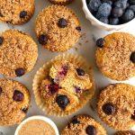 Paleo Blueberry Crumb Cake Muffins (gluten-free + dairy-free)