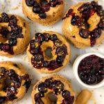Healthy Baked Peanut Butter and Jelly Donuts (vegan + gluten-free)