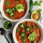Sharing the easiest Paleo Pumpkin Chili Recipe ready in less than 30 minutes for a quick Whole30 meal!
