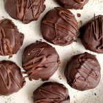 6-ingredient Paleo Peppermint Patties are the easiest homemade peppermint candy. Made with no gluten, no dairy and no refined sugars.