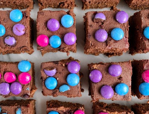 Healthier Copycat Cosmic Brownies made with all vegan, gluten-free and grain-free ingredients!
