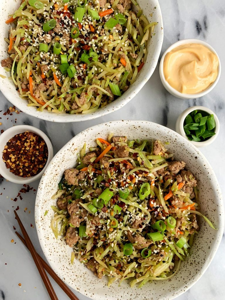 whole30 egg roll in a bowl