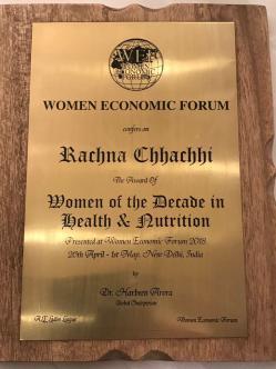 Rachna's award