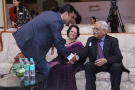 Speaker Dandeep Chaudhary greeting Speaker Col Khera