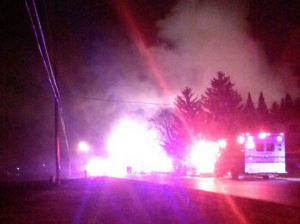 One person was found dead at the scene of a house fire in Mount Pleasant.
