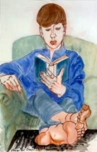 Ney Fraser - Boy Reading
