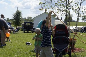 One of the demonstrations was rope-making and a number of children got to make their own rope at the Caledonia Homecoming Round-up on Sunday at Linwood Park. The Caledonia Historical Society hosted the event.