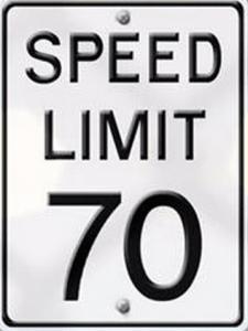 70 speed limit