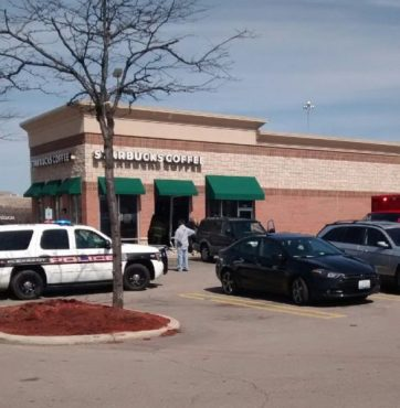 A woman drover her SUV into a Starbucks, 2805 S. Green Bay Rd.