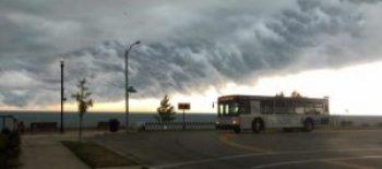 heavy rains come through Racine