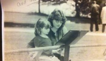 My daughter Katheryn Faith and I at the Racine Zoo when she was about five-years-old.