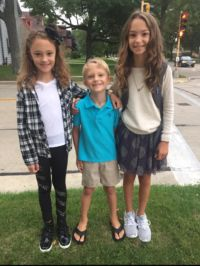 The DeSonia children -- Violet, 9, Henry, 5, and Maren, 11, are all set. (Photo by Amanda Aebly DeSonia)