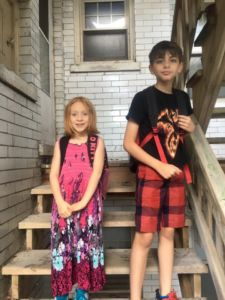 Saoirse and Oisin Riedlinger, grades 3 & 4 from Jefferson Lighthouse
