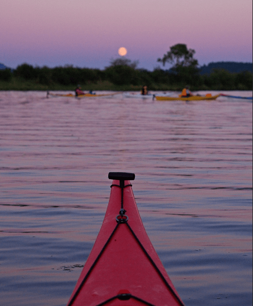 river bend nature center, full moon paddle