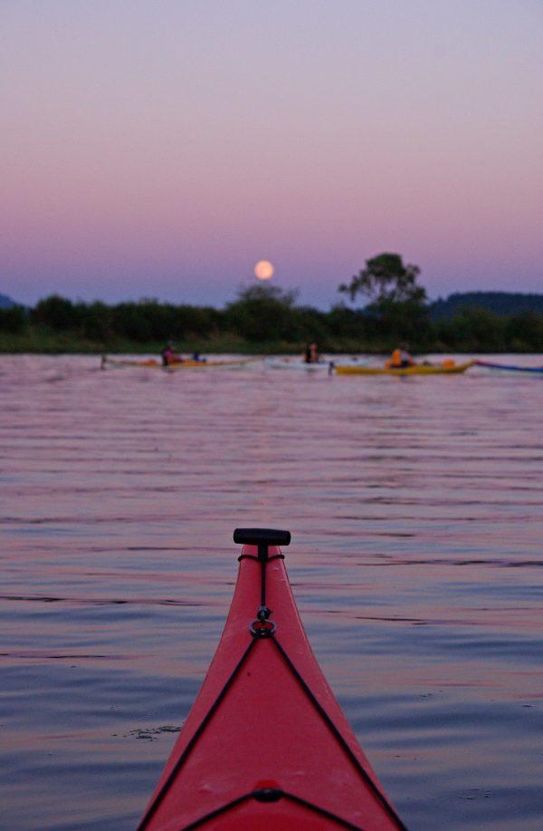 Riverbend full moon paddle canoe kayak