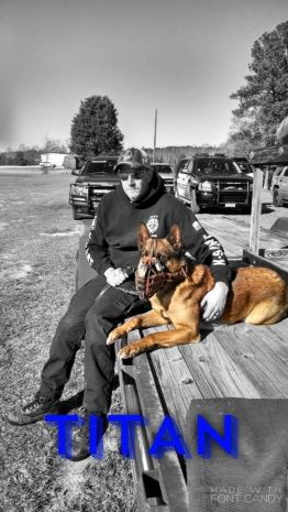 Titan and Officer Dave