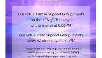 NAMI Racine County Family Support Peer Group mental health illness