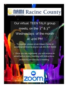 NAMI Racine Mental Health Teen Talk Group