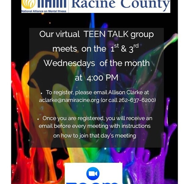 NAMI Racine Mental Health Teen Talk Group