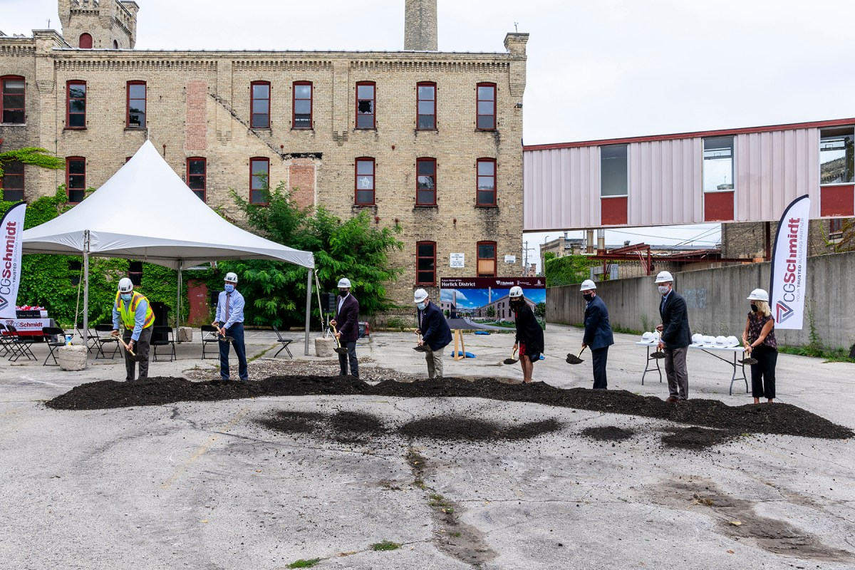 historic racine horlick malted milk project groundbreaking