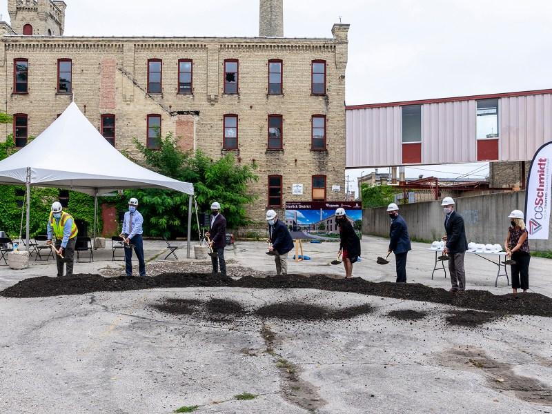 historic racine horlick malted milk project groundbreaking