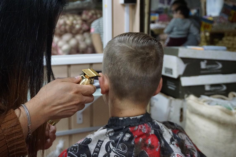 racine, haircut