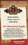 Texas Roadhouse donation night