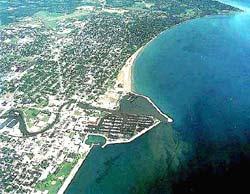 Aerial photo of Racine