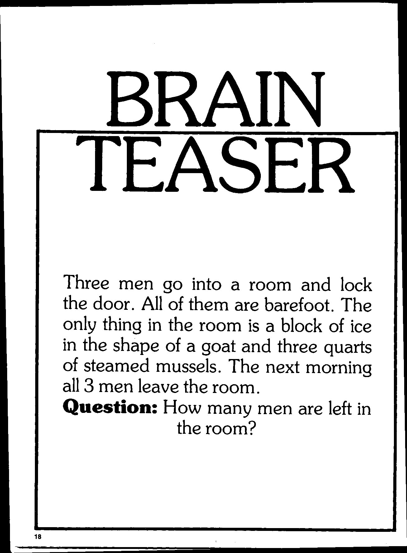 Brain Teaser And Mind Field