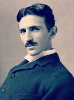 Nikola Tesla portrait.