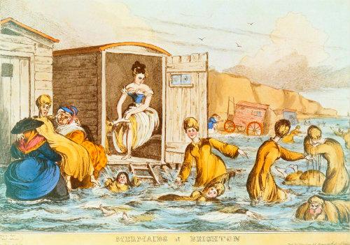 Mermaids At Brighton, William Heath, 1829.