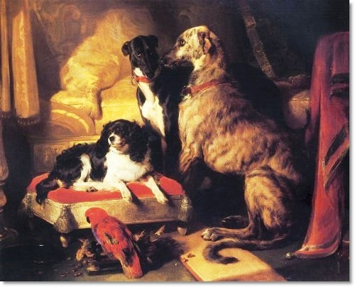 Queen Victoria's favourite pets painted by Landseer in 1837