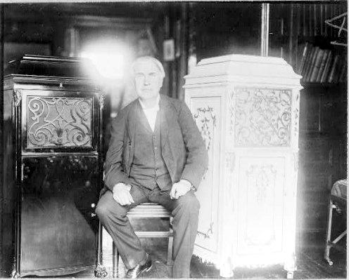 Edison with Phonographs, 1912.
