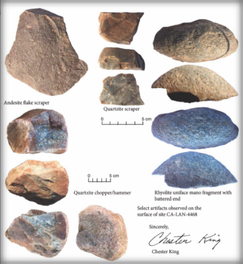 Chumash Artifacts Documented by Chester King, 2014.